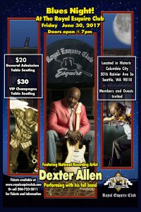royal esquire club Dexter Allen Blues concert